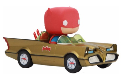 funko pop 01 Gold Batmobile